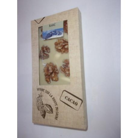 Tablette dégustation chocolat blanc aux noix