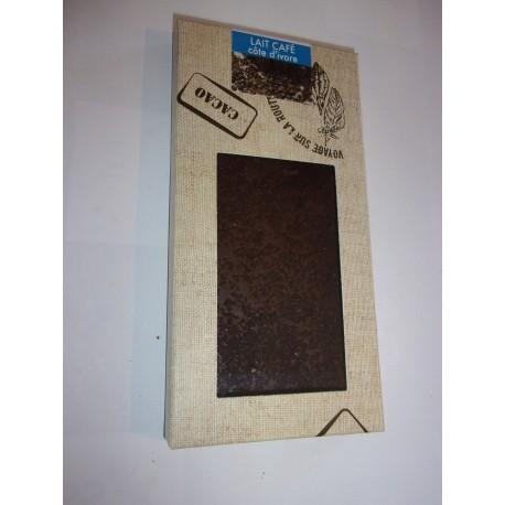 Tablette dégustation chocolat au lait - café