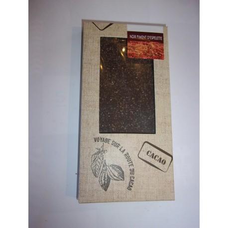 Tablette dégustation noir 78% au piment d'espelette