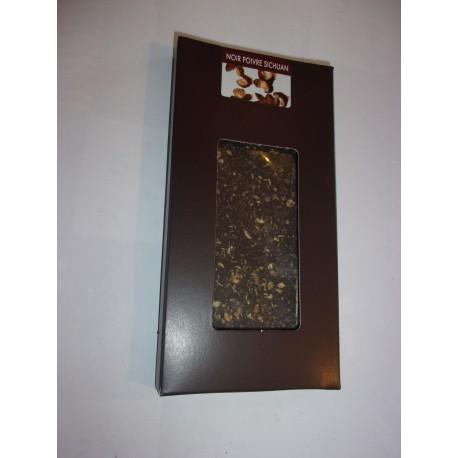 Tablette dégustation noir 78% cacao au poivre sichuan